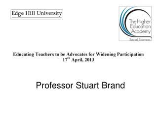 Professor Stuart Brand