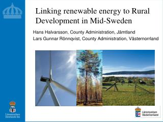 Linking renewable energy to Rural Development in Mid-Sweden