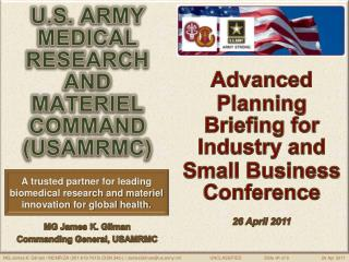 U.S. ARMY  MEDICAL  RESEARCH AND  MATERIEL  COMMAND  (USAMRMC)