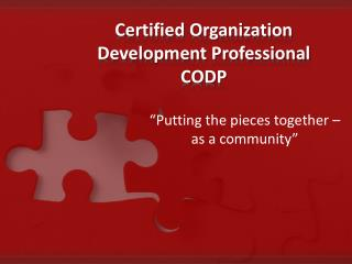 Certified Organization Development Professional CODP