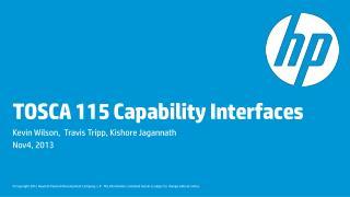 TOSCA 115 Capability Interfaces