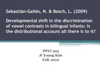 PSYC 525 Ji  Young Kim Fall, 2010