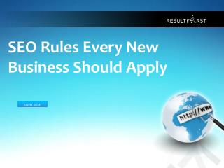 SEO Rules To Be Applied By A New Business