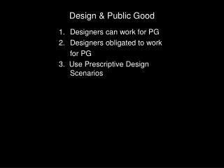 Design & Public Good