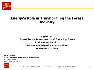 Energy's Role in Transforming the Forest Industry Argentina:
