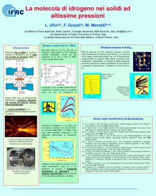 La molecola di idrogeno nei solidi ad altissime pressioni