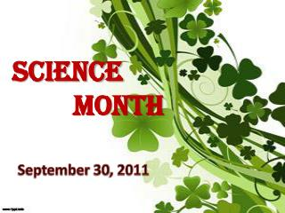 SCIENCE  MONTH