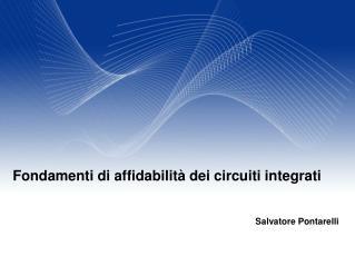 Fondamenti di affidabilità dei circuiti integrati