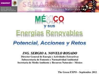 ING. SERGIO A. NOVELO ROSADO Director General de Energ�a y Actividades Extractivas