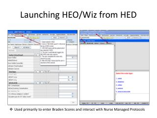 Launching HEO/Wiz from HED