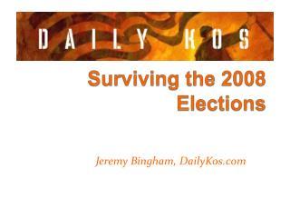 Jeremy Bingham, DailyKos