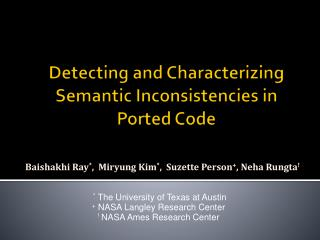 Detecting and Characterizing Semantic Inconsistencies in Ported Code