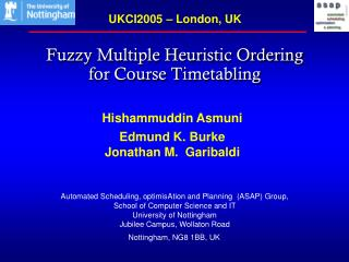 Fuzzy Multiple Heuristic Ordering  for Course Timetabling