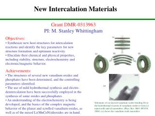 New Intercalation Materials