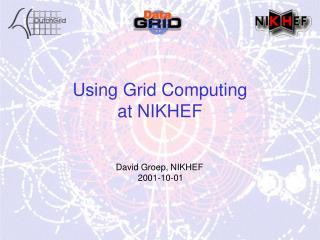 Using Grid Computing at NIKHEF