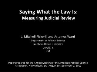 Saying What the Law Is: Measuring Judicial Review