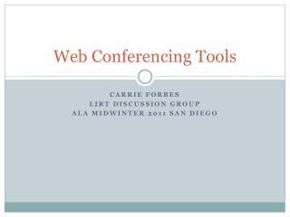 Web Conferencing Tools