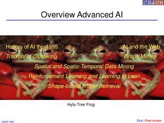 Overview Advanced AI