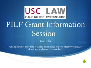 PILF Grant Information Session