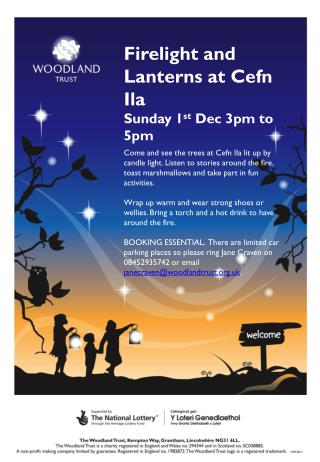 Firelight and Lanterns at  Cefn Ila