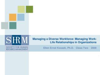 Managing a Diverse Workforce: Managing Work-Life Relationships in Organizations