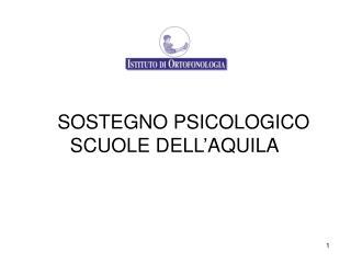 SOSTEGNO PSICOLOGICO SCUOLE DELL'AQUILA