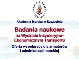 Oferta współpracy dla armatorów i administracji morskiej