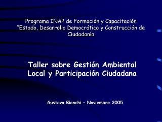 Taller sobre Gestión Ambiental Local y Participación Ciudadana