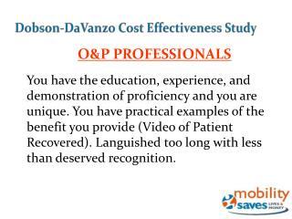 Dobson-DaVanzo Cost Effectiveness Study