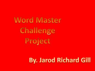 Word Master  Challenge Project