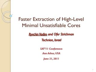 Faster Extraction of High-Level Minimal Unsatisfiable Cores