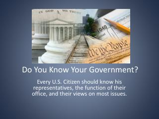 Do You Know Your Government?