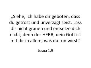 Josua 1,9