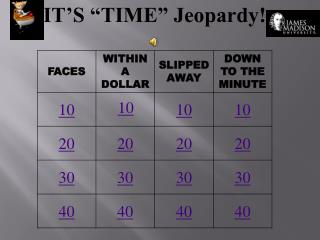 "IT'S ""TIME"" Jeopardy!"
