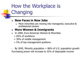 How the Workplace is Changing