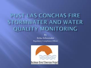 Post Las  Conchas  Fire  Stormwater  and Water Quality  MonitoRing