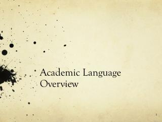 Academic Language Overview
