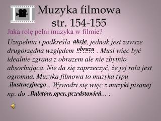 Muzyka filmowa str. 154-155