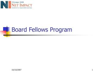 Board Fellows Program