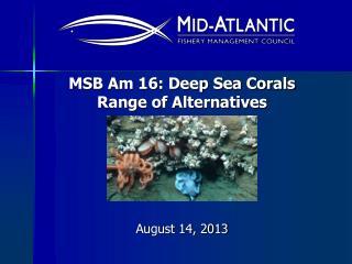 MSB Am 16: Deep Sea Corals  Range of Alternatives
