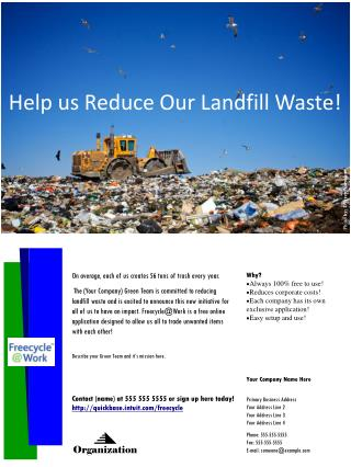 Help us Reduce Our Landfill Waste!