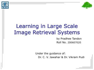 Learning in Large Scale Image Retrieval Systems