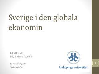 Sverige i den globala ekonomin