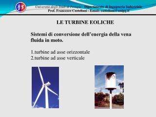 Università degli Studi di Perugia  -  Dipartimento di Ingegneria Industriale