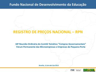 REGISTRO DE PREÇOS NACIONAL – RPN