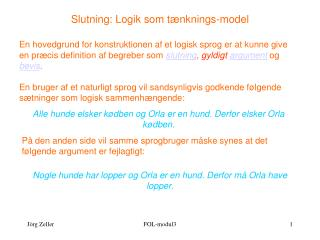 Slutning: Logik som tænknings-model