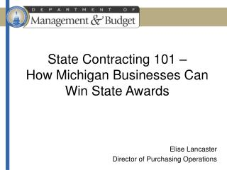 State Contracting 101    How Michigan Businesses Can Win State Awards