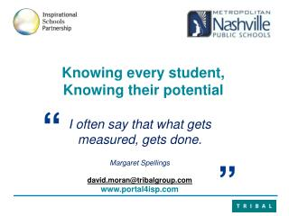 Knowing every student,  K nowing their potential