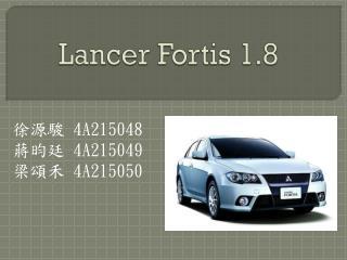 Lancer Fortis 1.8