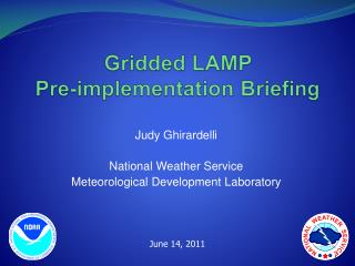 Gridded LAMP  Pre-implementation  Briefing